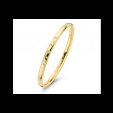 Fjory FJORY Armband 14k geelgoud 5mm ovaal met diamant 40-ASTER-021