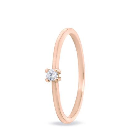 MissSpring Miss Spring Ring MSR506 roségoud met 0.04ct diamant