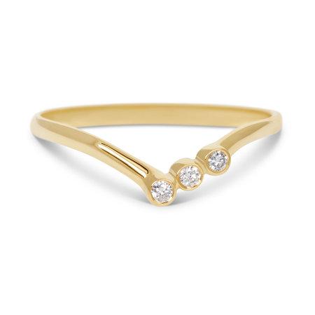MissSpring Miss Spring Ring MSR580GG-DI nova geelgoud met 3x briljant 0.05ct PW