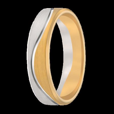 Aller Spanninga Aller Spaninga trouwringen 14k Bicolor geel wit goud 971