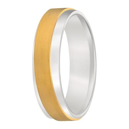 Aller Spanninga Aller Spaninga trouwringen 14k Bicolor geel wit goud 969