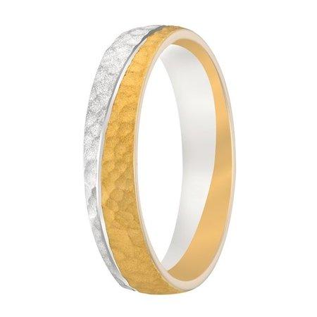 Aller Spanninga Aller Spaninga trouwringen 14k Bicolor geel wit goud 965