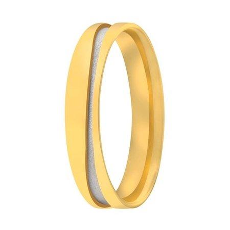 Aller Spanninga Aller Spaninga trouwringen 14k Bicolor geel wit goud 1047