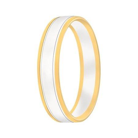 Aller Spanninga Aller Spaninga trouwringen 14k Bicolor geel wit goud 1032