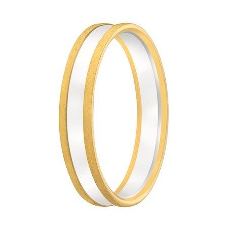 Aller Spanninga Aller Spaninga trouwringen 14k Bicolor geel wit goud 1020