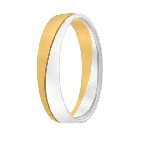 Aller Spanninga Aller Spaninga trouwringen 14k Bicolor geel wit goud 1013