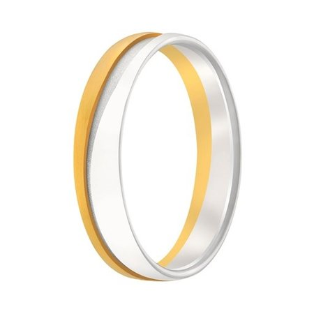 Aller Spanninga Aller Spaninga trouwringen 14k Bicolor geel wit goud 1006