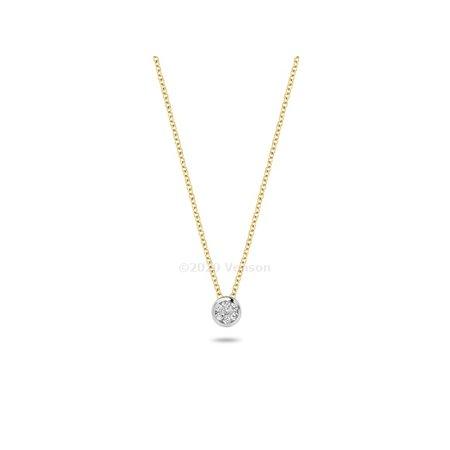Blush Blush collier 14krt geelgoud met diamant 3600BDI