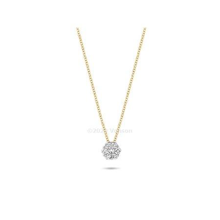 Blush Blush collier 14krt geelgoud met diamant 3603BDI