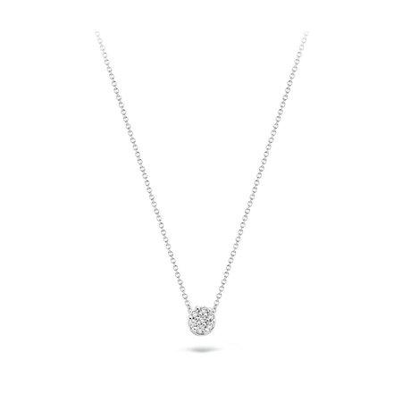 Blush Blush collier 14krt witgoud met diamant 3602WDI