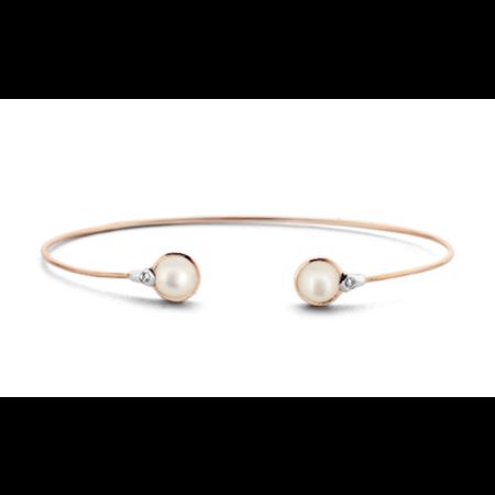 Tirisi Moda TIRISI Armband Seoul 18k rosegoud met 0.03ct diamant en parelmoer TB2122SCP