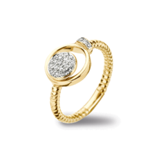 Tirisi Moda TIRISI Ring 18k Geelgoud met 0.21ct diamant TR1129D(2T)