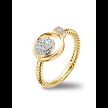 Tirisi Moda TIRISI Ring 18k Geelgoud met 0.24ct diamant TR1117D(2T) - Copy