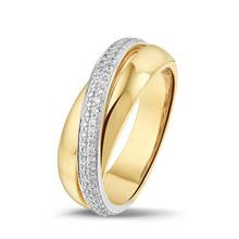 HuisCollectie HuisCollectie Ring bicolor goud 14k diamant 0.08 crt RP415783 - Copy - Copy - Copy - Copy