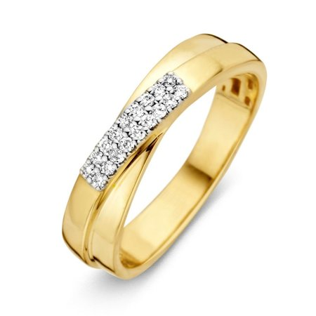 HuisCollectie HuisCollectie Ring bicolor goud 14k diamant 0.11 crt H/Si 603415