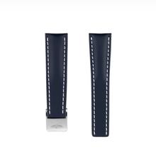 Breitling MEISTERSINGER horlogeband 20MM Donker bruin met wit stiksel SG02W - Copy - Copy