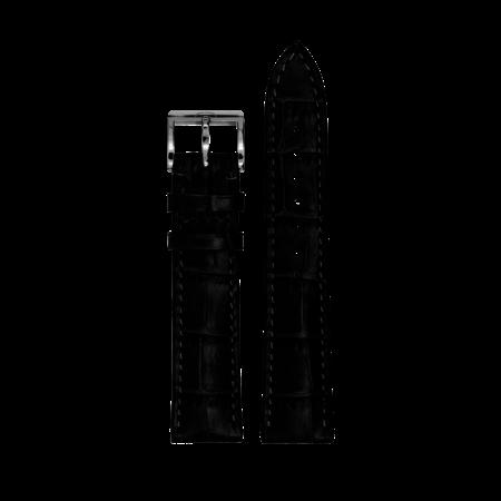 MeisterSinger MEISTERSINGER horlogeband 18MM Zwart;flat SGF11