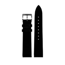 MeisterSinger MEISTERSINGER horlogeband 18MM zwart leer glad SCF11