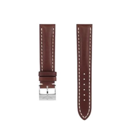 Breitling MEISTERSINGER horlogeband 20MM Donker bruin met wit stiksel SG02W - Copy - Copy - Copy - Copy