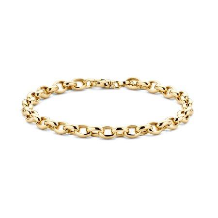 Blush Blush armband 14k geelgoud ovale jassaron 19cm 2162YGO