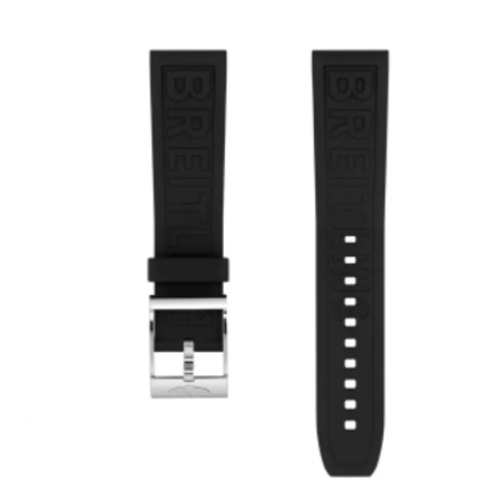 Breitling Breitling horlogeband 20MM zwart rubber met gesp 150S