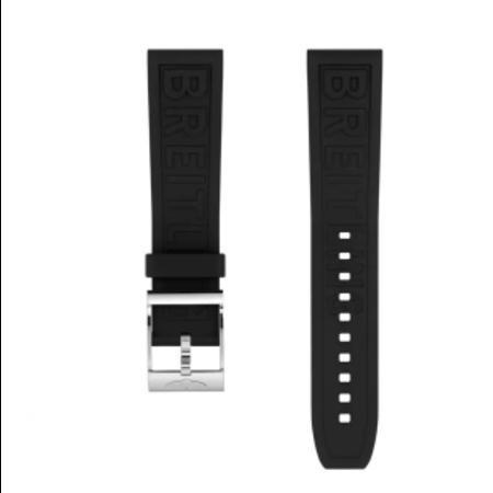 Breitling Breitling horlogeband 22MM zwart rubber met gesp 152S