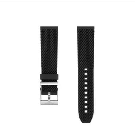 Breitling Breitling horlogeband 24MM zwart rubber met gesp 267S