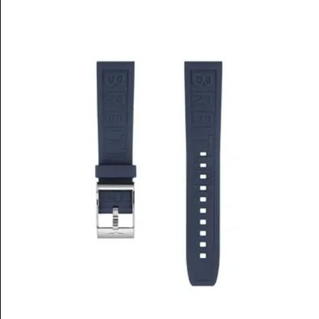 Breitling Breitling horlogeband 24MM Blauw rubber met gesp 159S