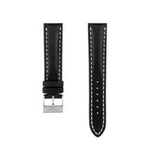 Breitling Breitling horlogeband 24MM zwart  kalfsleer met gesp 441X