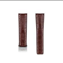 Breitling MEISTERSINGER horlogeband 20MM Donker bruin met wit stiksel SG02W - Copy - Copy - Copy