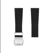 Breitling Breitling horlogeband 20MM zwart rubber voor vouwslot 151S