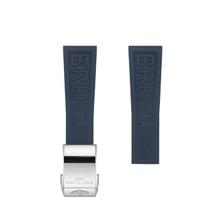 Breitling Breitling horlogeband 22MM blauw rubber voor vouwslot 157S