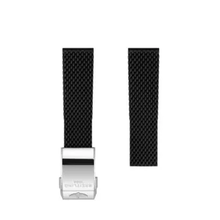 Breitling Breitling horlogeband 22MM zwart rubber voor vouwslot 279S