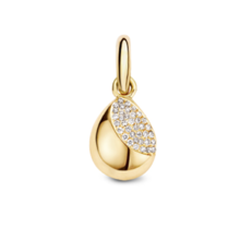 Tirisi Moda TIRISI Bedel 18k geelgouden bedel met diamant TP6047D