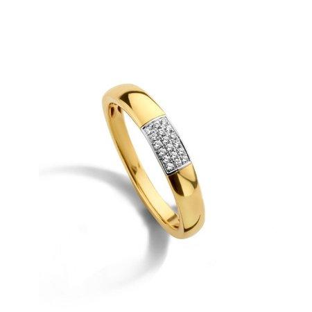 Mrs.Janssen MRS.Janssen Ring 14k geelgoud met diamant 0.08crt H/Si 606261