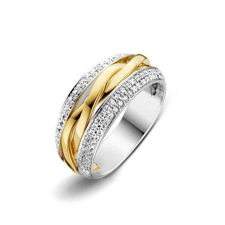 HuisCollectie HuisCollectie Ring bicolor goud 14k diamant 0.45crt H/Si 606170