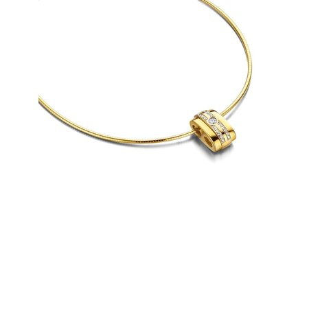 HuisCollectie HuisCollectie hanger bicolor goud 14k met diamant 0.46ct HSI HG415617 - Copy