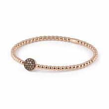 AL CORO AL CORO Stretchy armband rosegoud 18k met 0.28ct champagne diamant  A150BWR