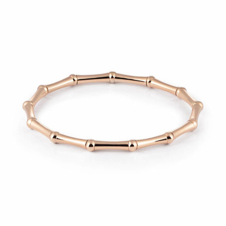 AL CORO AL CORO Stretchy armband rosegoud 18k Bamboo A137R