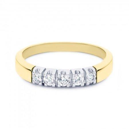 R&C R&C Ring Carole 14k Geelgoud met 0.45ct P/W diamant RIN1709-5-PW-GW - Copy