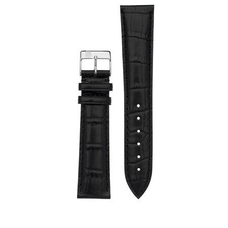 Frederique Constant Frederique Constant horlogeband 14MM Zwart satijn met gesp FCS-SBlack2VXL