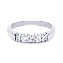 R&C R&C Ring Carole 14k Witgoud met 0.20ct SI/R diamant RIN1704-5/SIR - WG