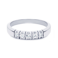 R&C R&C Ring Carole 14k Witgoud met 0.10ct P/W diamant RIN1702-5-PW-WG - WG