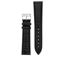 Frederique Constant Frederique Constant  XL horlogeband 22-18 MM Zwart imitatie croco zonder gesp FCS-B22X18XL