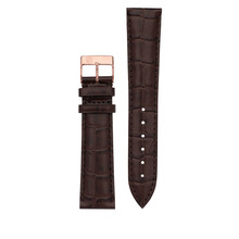Frederique Constant Frederique Constant horlogeband 12-10 MM bruin croco imitatie zonder gesp FCS-DBR12X10