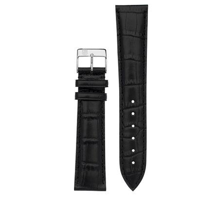 Frederique Constant Frederique Constant horlogeband 14-12MM Zwart imitatie croco met gesp