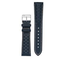 Frederique Constant Frederique Constant horlogeband 21-18 MM blauw met gaatjes met gesp FC