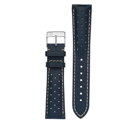 Frederique Constant Frederique Constant horlogeband 21-18 MM blauw met gaatjes FC