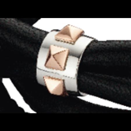Tirisi Moda TIRISI  Sluiting zilver met geelgouden studs  TM2086 (2T) - Copy
