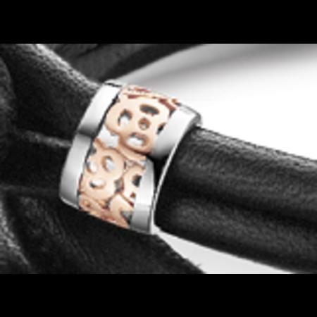 Tirisi Moda TIRISI  Sluiting zilver met 18 karaat rosegouden bewerking  TM2066 ( 2P)